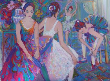 Cours De Dance 36x48 Super Huge  Original Painting - Isaac Maimon