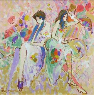 Untitled 24x24 Original Painting - Isaac Maimon