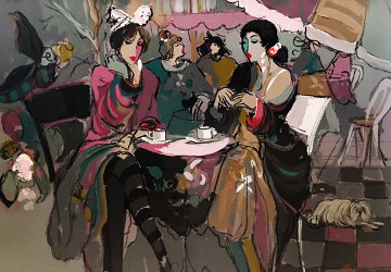 Lancelot And Ladies 52x42 Original Painting by Isaac Maimon