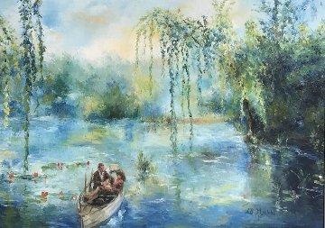 Sway of Summer 28x33 Original Painting by A.B. Makk