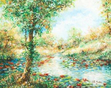 Fall Leaves 32x39 Original Painting by A.B. Makk