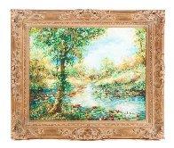 Fall Leaves 32x39 Original Painting by A.B. Makk - 1