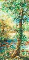 Fall Leaves 32x39 Original Painting by A.B. Makk - 2