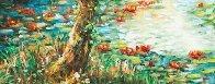 Fall Leaves 32x39 Original Painting by A.B. Makk - 3