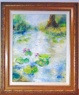 First Flowers 26x22 Original Painting by A.B. Makk
