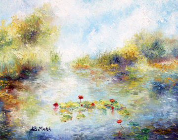 First Lillies 21x25 Original Painting by A.B. Makk