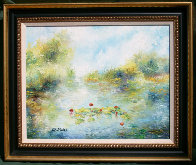 First Lillies 21x25 Original Painting by A.B. Makk - 1