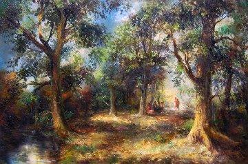 Serene Woods 1977 31x43 Original Painting by A.B. Makk