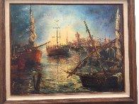 Turquoise Ripples 36x30 Original Painting by A.B. Makk - 1