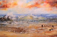 Calm of Day 1990 40x60 Super Huge Original Painting by A.B. Makk - 0