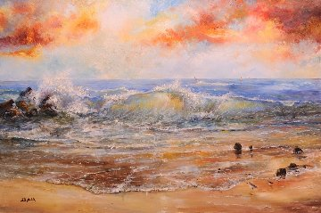 Calm of Day 1990 40x60 Original Painting - A.B. Makk