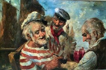 Old Salts 1970 44x32 Original Painting by Americo Makk