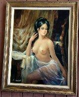 Pearl Earring 47x37 Super Huge Original Painting by Americo Makk - 1