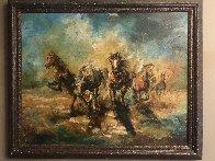 Running 29x35 Original Painting by Americo Makk - 1