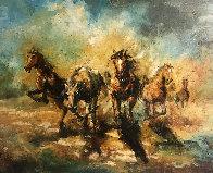 Running 29x35 Original Painting by Americo Makk - 0