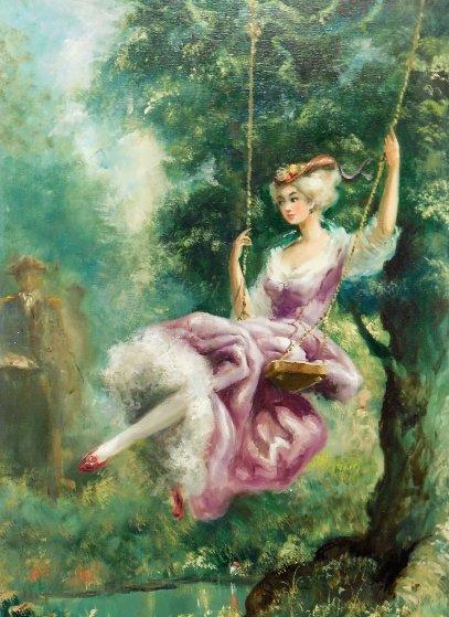 Untitled Tree Swing  Original Painting by Americo Makk