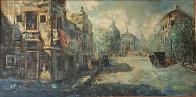 Untitled (Paris Scene) 33x57 Super Huge Original Painting by Americo Makk - 1