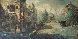 Untitled (Paris Scene) 33x57 Original Painting by Americo Makk - 1