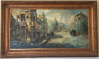 Untitled (Paris Scene) 33x57 Super Huge Original Painting by Americo Makk - 2
