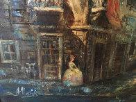 Untitled (Paris Scene) 33x57 Super Huge Original Painting by Americo Makk - 5