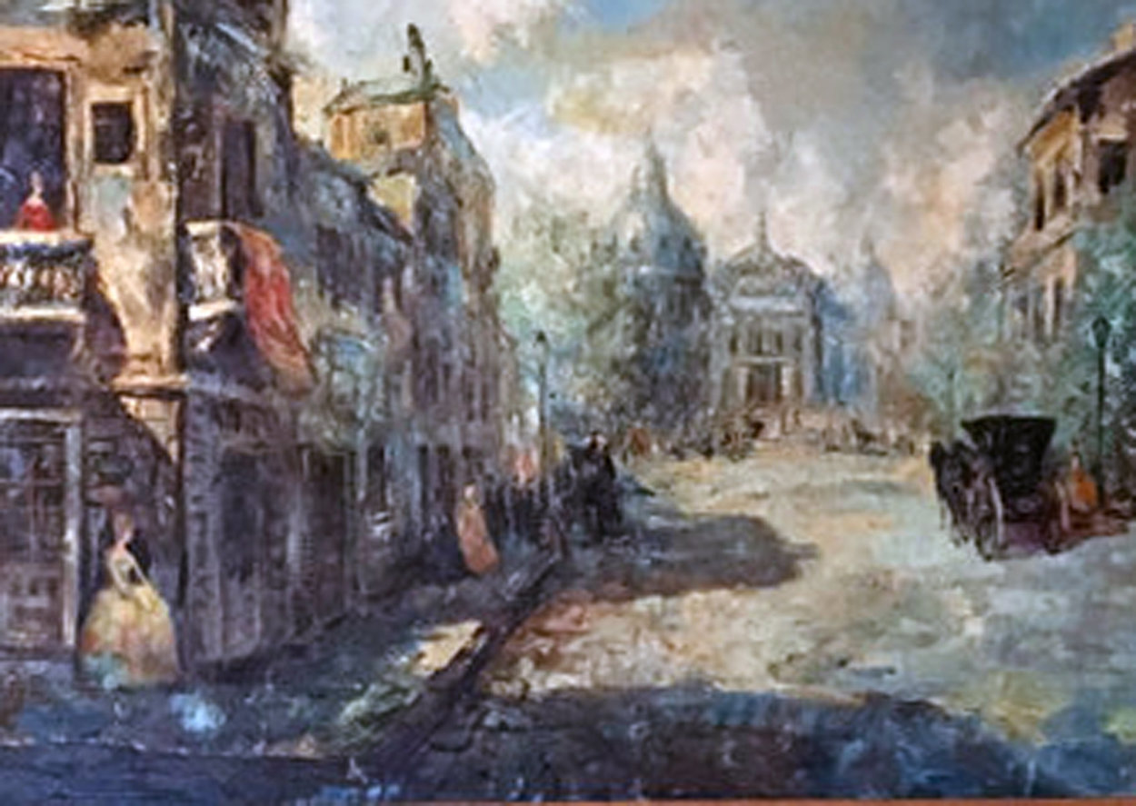 Untitled (Paris Scene) 33x57 Super Huge Original Painting by Americo Makk