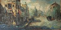 Untitled (Paris Scene) 33x57 Super Huge Original Painting by Americo Makk - 6
