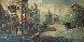 Untitled (Paris Scene) 33x57 Original Painting by Americo Makk - 6