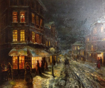 Fresh Snow 24x30 Original Painting - Americo Makk