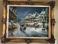 Muffled in Snow 1980 39x49 Super Huge Original Painting by Americo Makk - 1
