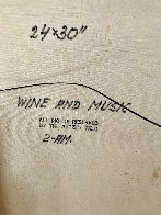 Wine and Music 1974 33x27 Original Painting by Americo Makk - 4