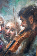 Wine and Music 1974 33x27 Original Painting by Americo Makk - 3