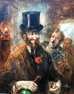Drinker 34x28 Original Painting - Americo Makk
