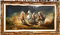 Reckless 1975 31x55 Huge Original Painting by Americo Makk - 1