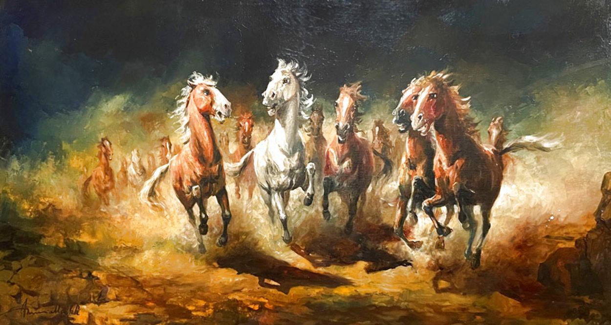 Reckless 1975 31x55 Huge Original Painting by Americo Makk
