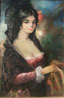 Spanish Lady 36x24 Original Painting by Americo Makk - 0