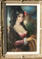 Spanish Lady 36x24 Original Painting by Americo Makk - 2