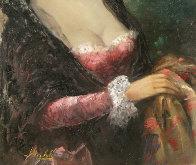 Spanish Lady 36x24 Original Painting by Americo Makk - 3