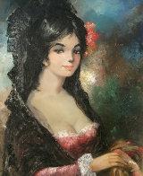 Spanish Lady 36x24 Original Painting by Americo Makk - 4