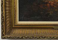 Reader 1980 38x32 Original Painting by Americo Makk - 2