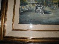 Parisian Cafe 37x44 Super Huge Watercolor by Americo Makk - 2
