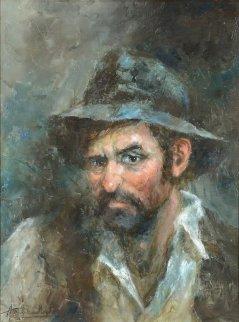 Doubtful 30x24 Original Painting by Americo Makk