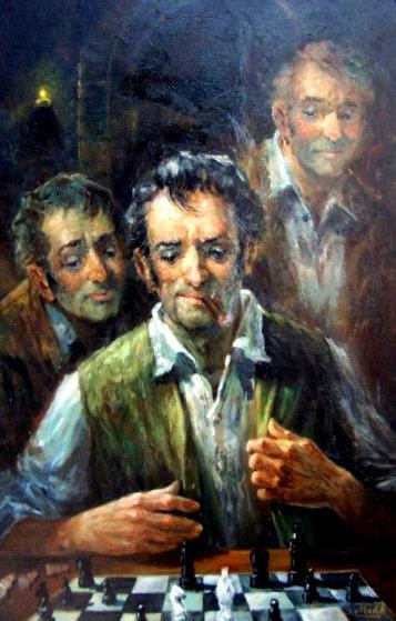 Disadvantage 1972 44x32 Original Painting by Americo Makk