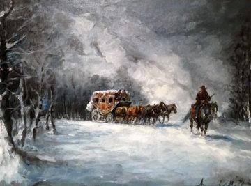 Snowland  Original Painting - Americo Makk