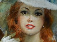 Satin Boudoir 32x56 Original Painting by Americo Makk - 4