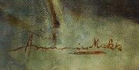 Satin Boudoir 32x56 Original Painting by Americo Makk - 6