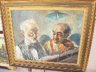 Two Elderly Musicians 38x32 Original Painting by Americo Makk - 1