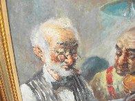 Two Elderly Musicians 38x32 Original Painting by Americo Makk - 2