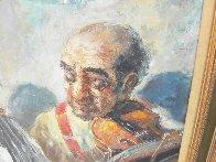 Two Elderly Musicians 38x32 Original Painting by Americo Makk - 3
