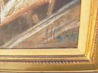 Two Elderly Musicians 38x32 Original Painting by Americo Makk - 4