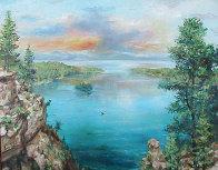 Emerald Bay 24x30 Lake Tahoe Ca 24x30 Original Painting by Eva Makk - 0